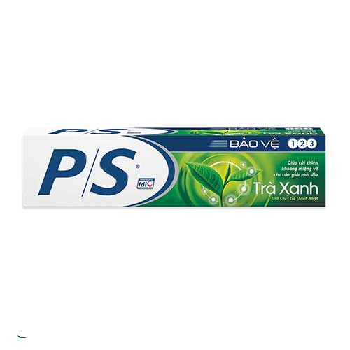 Kem đánh răng Trà xanh PS Bảo vệ 3 tác động 200g