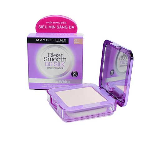 Phấn siêu mịn che khuyết điểm Maybelline Clear Smooth BB Silk Poreless White 8g