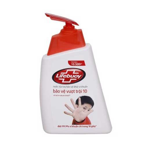 Nước rửa tay Lifebuoy Bảo vệ vượt trội 10 180g