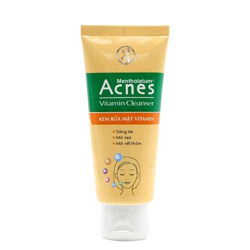 Sữa rửa mặt sáng da mờ sẹo và vết thâm  Acnes Vitamin Cleanser 50g