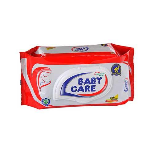 Khăn ướt em bé Baby Care 80 tờ