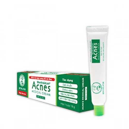 Kem thoa da điều trị mụn sưng đỏ và đau Acnes Medical Cream 18g