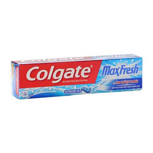 Kem đánh răng Colgate MaxFresh Cực the mát  hương Bạc Hà 200g