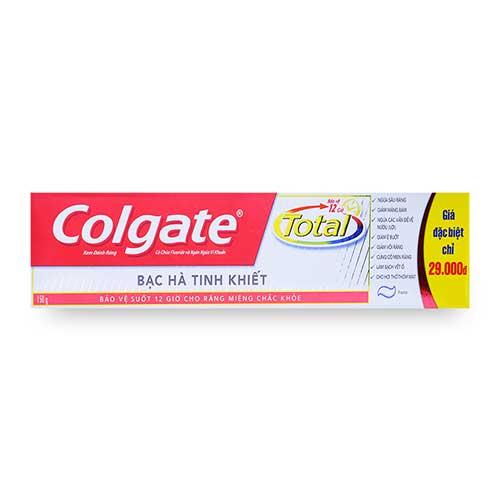Kem đánh răng Colgate Total Bạc hà tinh khiết 190g