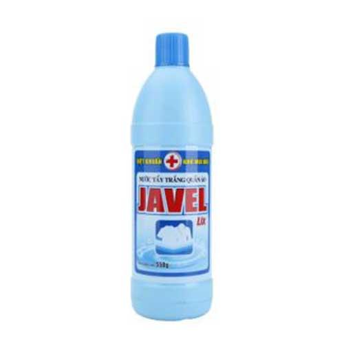 Nước tẩy trắng quần áo Javel Lix 550g