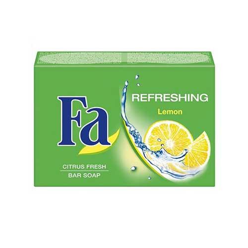 Xà bông cục FA Refreshing Lemon Citrus Fresh Bar Soap - Hương Chanh 90g