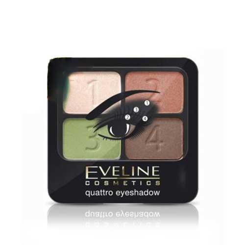 Phấn mắt 4 màu Eveline Cosmetics Quattro Eyeshadow 08 5.2g