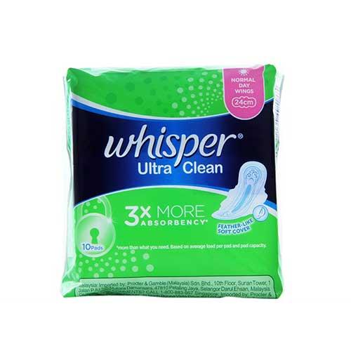 Băng vệ sinh Whisper Ultra Clean 3X (10 miếng)