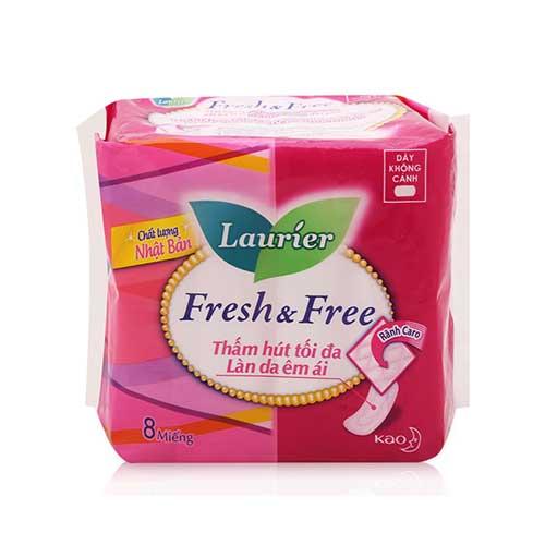 Băng vệ sinh dày không cánh Laurier Fresh & Free 8 miếng