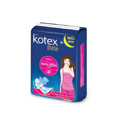 Băng vệ sinh Kotex Style ban đêm 3 miếng