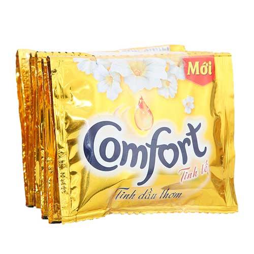 Nước xả vải Comfort Tinh dầu thơm Tinh tế 22ml ( 10 gói)