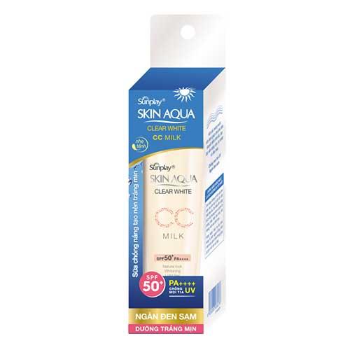Sữa chống nắng tạo nền Skin Aqua Clear White CC Milk SPF50 25g