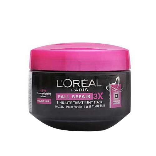 Kem ủ giúp ngăn gãy rụng tóc  L'oreal Paris Fall Repair 3X 200ml