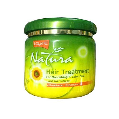 Kem ủ tóc màu tinh chất hướng dương Lolane Natura Hair Treatment 500g