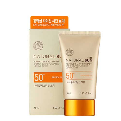 Kem chống nắng The FaceShop Natural Sun Eco Power Long Lasting Sun Cream SPF50+PA+++ 50ml