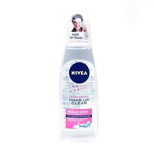 Nước tẩy trang Nivea Extra Bright Make Up Clear Micellar Water da thường 200ml