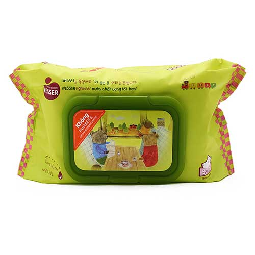 Khăn giấy ướt Wesser Pure Water Baby Wipes 80 tờ