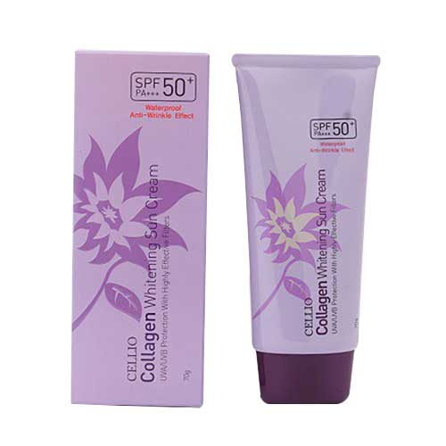 Kem chống nắng Cellio Collagen Whitenning Sun Cream SPF50+/ PA+++ 70g