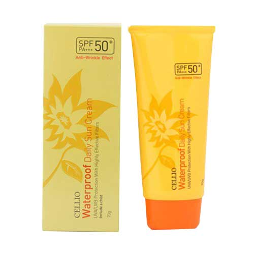 Kem chống nắng Cellio Waterproof Daily Sun Cream SPF50+/PA+++ 70g