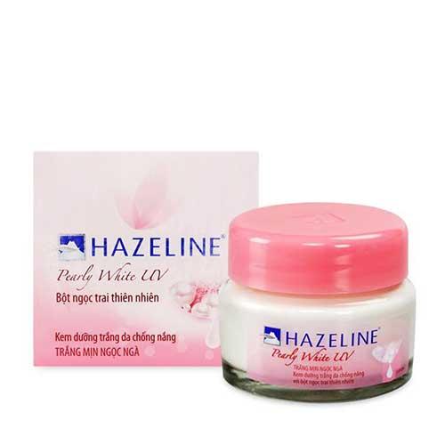 Kem dưỡng trắng da chống nắng Hazzeline Pearly White UV Bột ngọc trai 45g