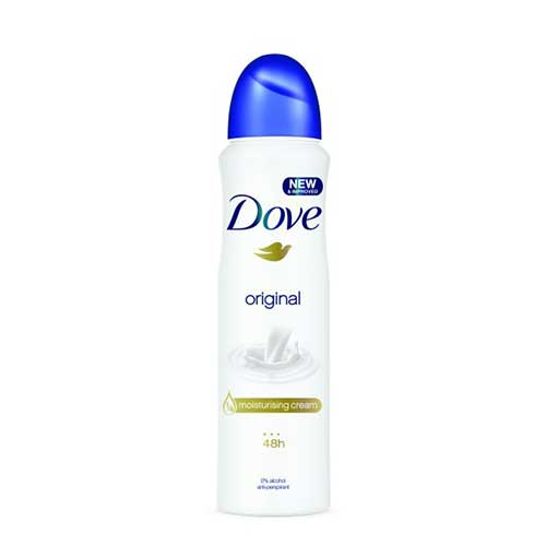 Xịt khử mùi Dove Original Moisturising Cream 48H 150ml