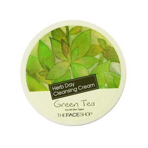 Kem tẩy trang trà xanh The Face Shop Green Tea Herb Day Cleansing Cream 150ml