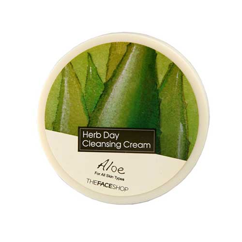 Kem tẩy trang nha đam The Face Shop Aloe Herb Day Cleansing Cream 150ml
