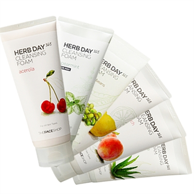 Sữa rửa mặt Herb Day 365 Cleansing Foam The face shop