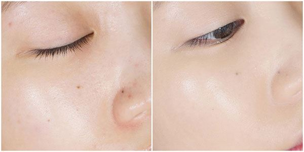 Về độ che phủ thì em April Skin Magic Snow Fixing Foundation được cải thiện hơn rất nhiều