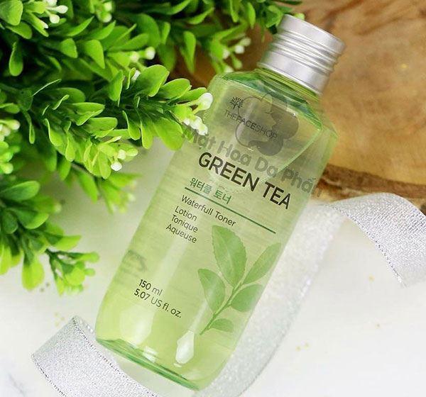 Nước hoa hồng trà xanh The Face Shop Green Tea lành tính ngay với da nhạy cảm