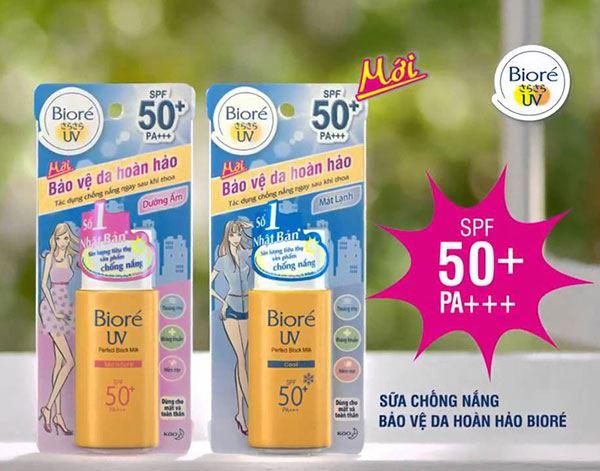 Sữa Chống Nắng Bảo Vệ da Hoàn Hảo Trắng Mịn Ngọc Trai Biore SPF 50+/PA+++