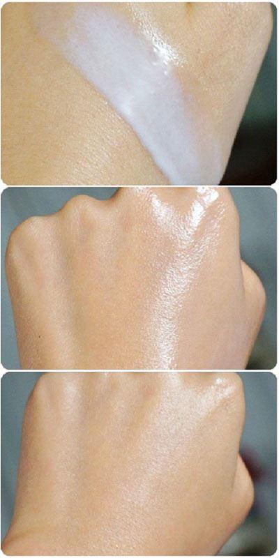 Kem Chống Nắng Sunplay Skin Aqua Acnes Clear Milk có dạng sữa khá lỏng