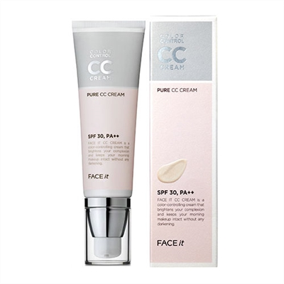 Kem nền Face It Pure CC Cream Color Control Theface shop