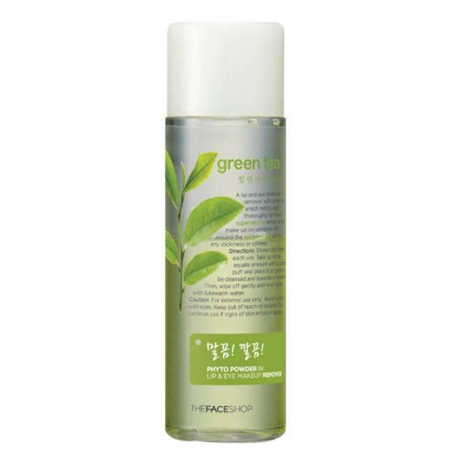 Tẩy trang Phyto Powder In Lip & Eye Makeup Remover Green Tea