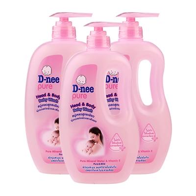 Tắm gội toàn thân em bé D-nee hồng