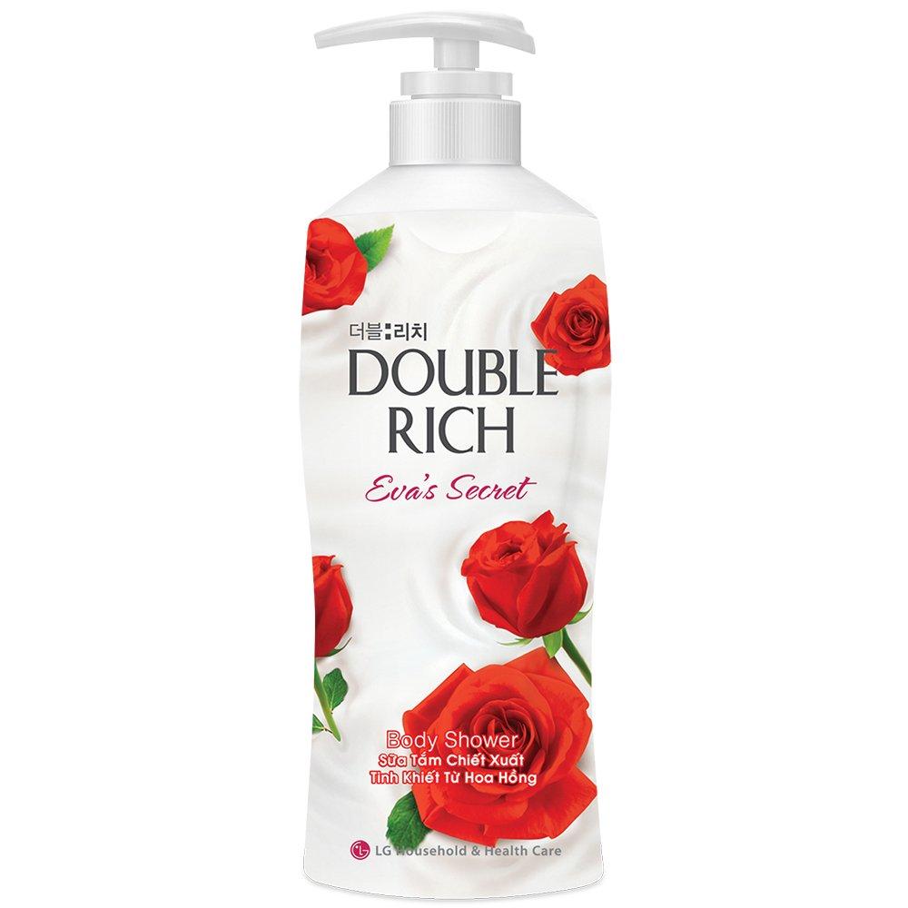 Sữa Tắm Double Rich Evas Secret Hoa Hồng 800g