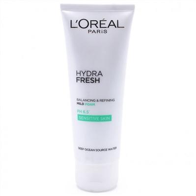 Sữa rửa mặt làm sạch và ngăn bóng nhờn L'oreal Hydra Fresh