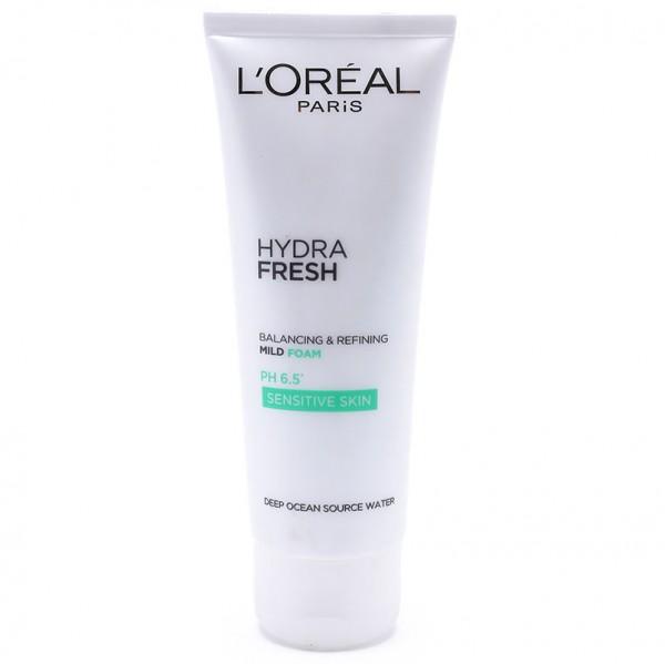 Sữa rửa mặt làm sạch và ngăn bóng nhờn Loreal Hydra Fresh