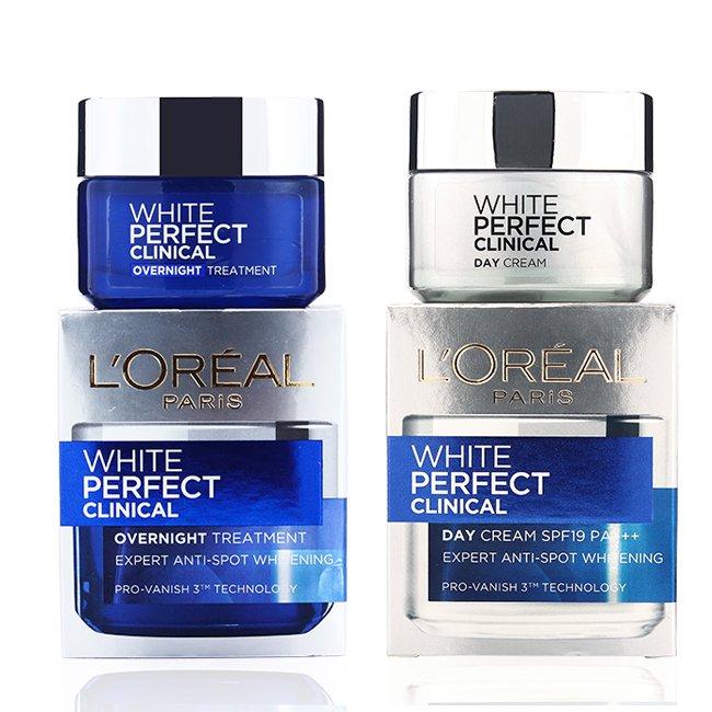 Kem dưỡng da trắng mịn và giảm thâm nám L'oreal White Perfect Clinical Ngày và Đêm
