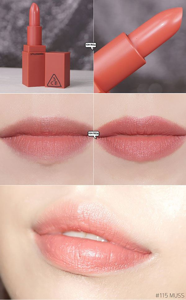 Son 3CE Stylenanda Lip Color 115 Muss - Màu Hồng đất
