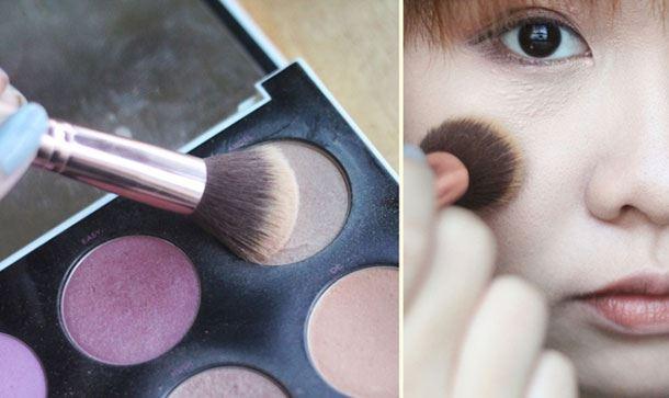 Sử dụngthêm một chút má hồng nhẹ là để gương mặt trở nên hồng hào tự nhiên hơn.