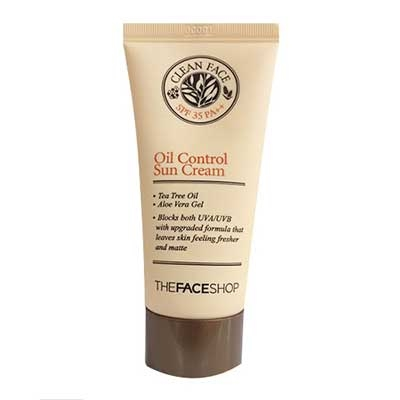 Kem chống nắng Clean Face Oil Control Sun Cream Thefaceshop